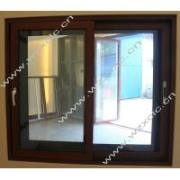 Wholesale 1.6mm profile wood grain european style aluminum sliding windows for office building from china suppliers
