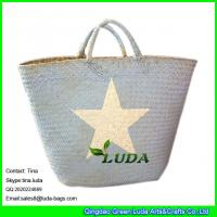Wholesale LUDA imitated palm leaf beach straw bags wholesale Seagrass Straw handbag from china suppliers
