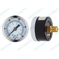 Wholesale Black steel 1000 psi pressure gauge with chrome steel bezel , air pressure guage from china suppliers