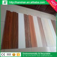 Embossed plastic type vinyl plank flooring with SGS from Hanshan