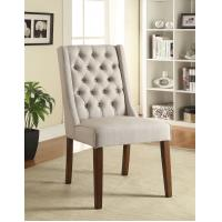 Wholesale Solid Wood Legs Upholstered Dining Chairs , High Back Dining Room Chairs from china suppliers