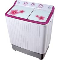 Colorful Twin Tub Semi Automatic Washing Machine 7kg  With Plastic Body Tempered Glass