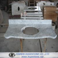 Quality Marble  Sink Countertops with Grey Lines, Marble Countertops with built in Sinks for sale