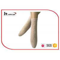 Wholesale Flesh Colored Ladies Trouser Socks Ribbed Edge Ankle High Nylon Socks from china suppliers