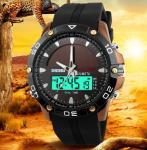 Wholesale SKMEI 1064 Solar Power Digital Analog Waterproof Rubber Band Men Sport Wrist Watch from china suppliers
