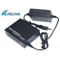 Wholesale Optic Fiber 10M 100M 20KM Media Converter Single Mode AC220V External Power from china suppliers