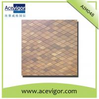 Wholesale Wood mosaic wall tiles with rhombic shape from china suppliers