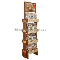 Wholesale Food Shop 4-Layer Wood Flooring Display Rack , Coffee Bag And Nuts Display Units from china suppliers