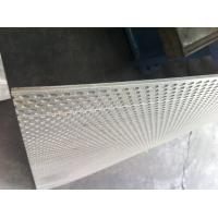 Wholesale flat Perforated Steel Metal Sheet Panel , Round Punched Mesh custom made from china suppliers