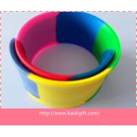 Wholesale segmented Wholesale custom cheap reflective silicone slap bracelet with high quality from china suppliers