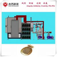 Wholesale PVD Gold Plating Machine , Ion Plating Machine For Metal and ABS parts, PVD TiN Gold Plating System on ABS Chrome Parts from china suppliers