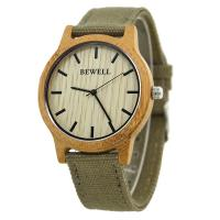 Wholesale Custom Bewell Mens Watches , Mens Bamboo Wooden Watch With Leather Band from china suppliers