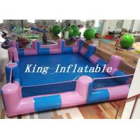 Wholesale Custom 0.9mm PVC Pool Type Inflatable Swimming Pool With Blue And Pink , 12x8m from china suppliers