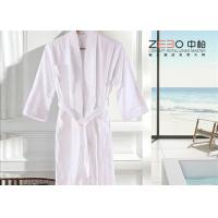 Wholesale Eco Friendly White Waffle Bathrobe / Terry Cloth Bathrobe Good Hand Feeling from china suppliers