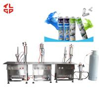 Wholesale Spray Can Deodorant Filling Machine , Automatic Aerosol Bottle Filling Machine from china suppliers