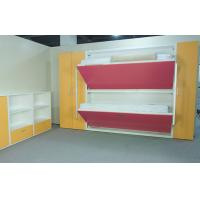 Wholesale Wood Panel Bunk Wall Beds For Domitory E1 Grade Material , SGS Approved from china suppliers