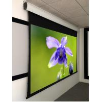 Wholesale 100 Inch Tab Tensioned Motorized Screen , home theater motorized screen HD Grey Fabric​ from china suppliers