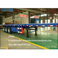 Wholesale Tri - axle 20 feet container loading flatbed trailers semi truck flatbed from china suppliers