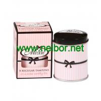 Wholesale accept OEM order mini round tampon tin box from china suppliers