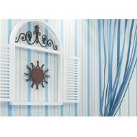 Wholesale Embossed Kids Bedroom Wallpaper Vinyl Blue and White Striped Wallpaper from china suppliers