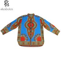 Wholesale Button Up Traditional African Print Tops For Mens / Womens Dashiki Style from china suppliers