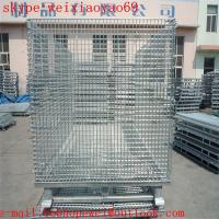Wholesale warehouse metal storage cage on wheels/security cage/pallet cage/industrial storage cabinets/metal bin from china suppliers