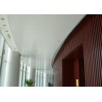 Quality Indoor Decoration Aluminum Suspended Strip Ceiling Panel Beveled Edge Eco-friendly for sale