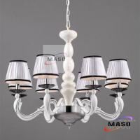 Wholesale Residentail lighting fixture eight Lamps Modern Chandelier Cloth Cover MS-P3016 from china suppliers