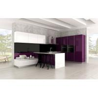 Buy cheap Modern White and Purple Acrylic Kitchen Cabinets from wholesalers