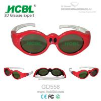 Wholesale Universal Rechargeable Children 3D Active Glasses Red / Kid 3D Eyewear from china suppliers