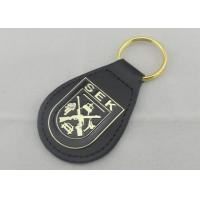 Wholesale SEK Leather Key Chain Iron Personalized Leather Keychains With Brass Plating from china suppliers