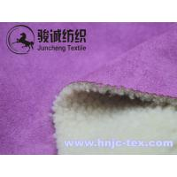 Quality Thick and warm suede fabric with lamb wool back for overcoat and jaket for sale