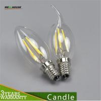 Buy cheap E27 E14 LED candle bulb lamp filament tungsten for crystal chandelier Light Incandescent Replace 2W 4W AC 220V CE led from wholesalers