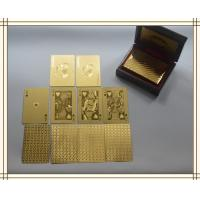 Wholesale 24k gold plated playing cards set in box poker deck 99.9% gold gift fathers day from china suppliers