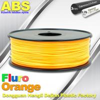 Wholesale Eco Friendly ABS 3D Printer Filament 1.75mm Fluro Orange 3D Printing Filament from china suppliers