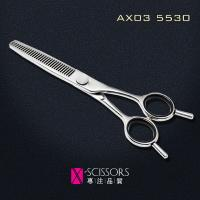 Wholesale Convex Edge 30T Thinning Scissors of Japanese 440C Steel. Quality hair shear AX03-5530 from china suppliers