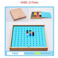 Wholesale pre school professional froebel gifts wooden educational toys froebel GABE J2 Points from china suppliers