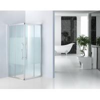Wholesale Shinning Silver Bathroom Shower Enclosures 8mm Frost Glass Shower Cubicles from china suppliers