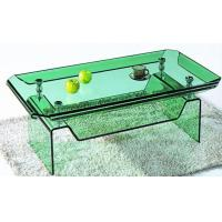 Wholesale Green / Clear Square Curved Tempered Glass For Coffee Table , Laminated 8 - 12mm from china suppliers