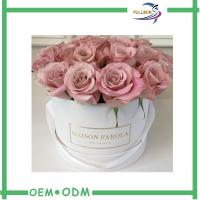 Wholesale Art Paper Cardboard Round Flower Packaging Box With Lid FSC Certification from china suppliers