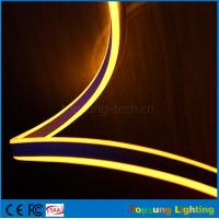 Wholesale Pretty 230V double side emitting yellow led neon flexible strip for outdoor from china suppliers