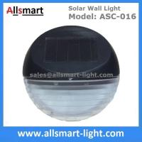 Wholesale 2LED Super Bright Round Black Security Solar Fence Lights for Patio Walkway Solar Deck Light Wall Mount Sconce from china suppliers