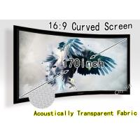 Wholesale Multimedia 170 Inch Curved Projector Screen For Hd Home Theatre Projectors from china suppliers