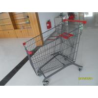 Quality European Zinc Plating 270L Steel Shopping Carts For Supermarket for sale