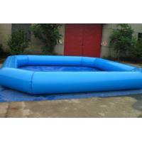 Wholesale Fireproof Backyard Blue Inflatable Family Pool For Adult , Inflated Toys Pools from china suppliers