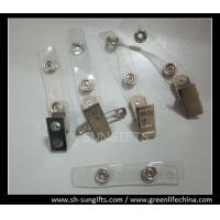 Wholesale Metal clip with PVC clear strap, badge clip, name badge holder, ID accessories from china suppliers