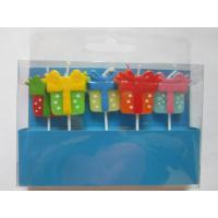 Wholesale 5 Pcs Decorating Candles Star / Dots / Triangle Multi Coloured Printer Paraffin from china suppliers
