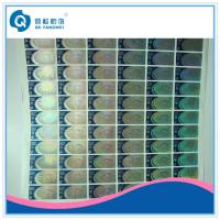 Wholesale Dot Matrix Hologram Stickers On Rolls , Blue Laser Cut Vinyl Stickers from china suppliers