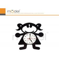 Wholesale Kindergarten Decrative Wall Clock Sticker , Removable Childrens Wall Stickers from china suppliers