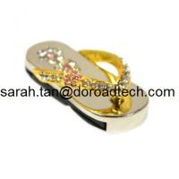 Wholesale Hot Diamond Jewelry Slipper Shape USB Flash Drives, High Quality Jewelry Slipper USB from china suppliers